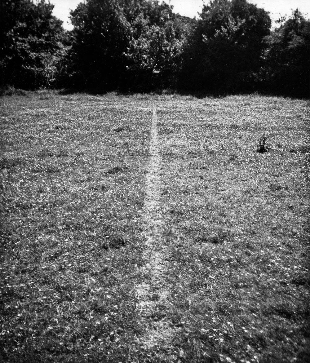 Richard Long's image of a line made by walking