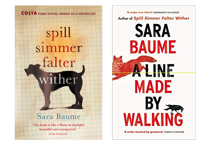 Book covers of Sara Baume's novels