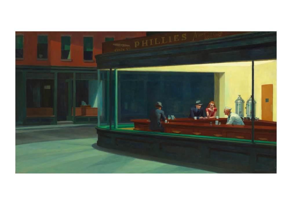 Nighthawks painting by Edward Hopper